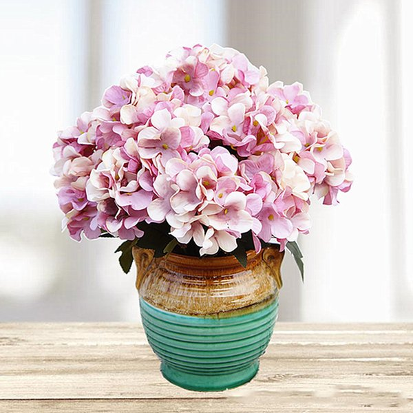 New Artificial Silk Fake Flowers Peony Floral Wedding Bouquet Bridal Hydrangea Decoration