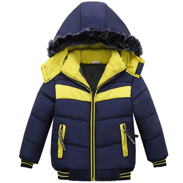 Winter Jacket For Boys Baby Fur Hooded Jacket Parkas Kids Clothes Snowsuit Outerwear Children Warm Coat Clothing Infant
