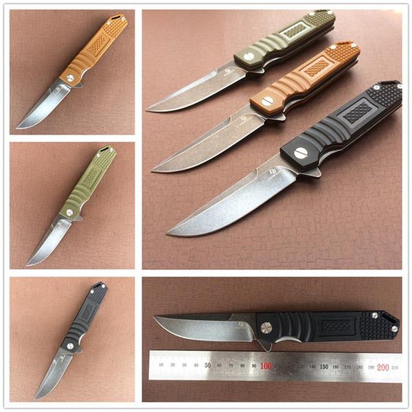 Folding Knife D2 Blade G10 Handle Ball Bearing Hunting Tactical Pocket Knifes Camping EDC Tools