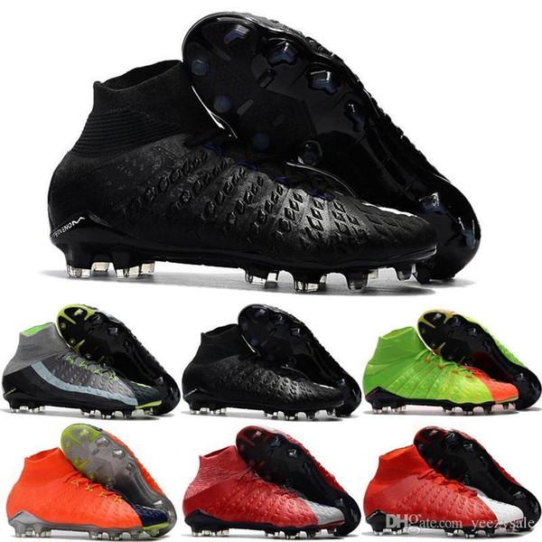 Mens High Quality Ankle Fg Soccer Cleats Hypervenom Phantom Iii Df Soccer Shoes Neymar Ic Football Boots Cleats Men Football Shoes Cheap