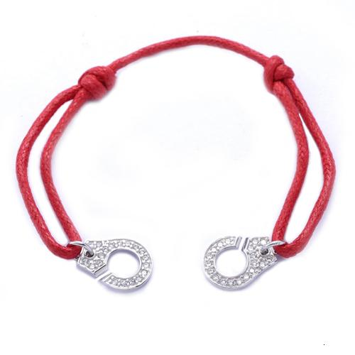 Red Rope Full Stone Silver