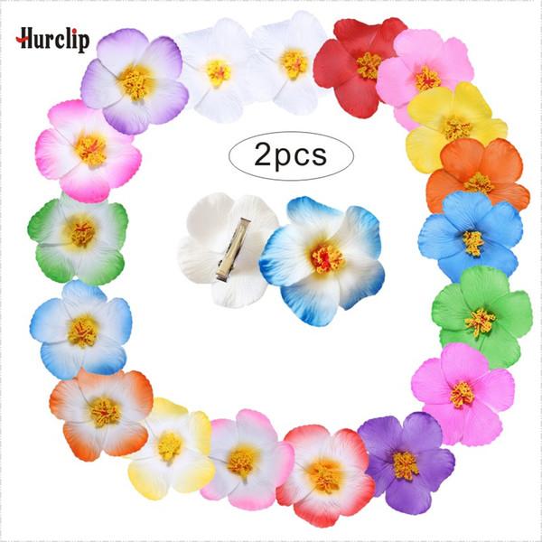 2pcs hot sell 18 kinds of colors you pick 9cm women girl Foam Hawaiian flower hairpin Hibiscus Flower bridal hair clip headwear
