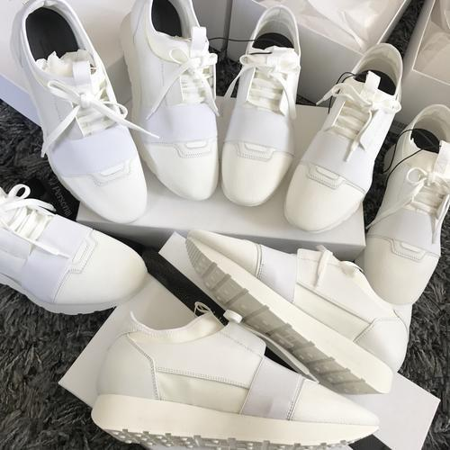 2018 Nuevo Nombre del Diseñador de la marca Womans Man Shoes Flat Fashion Red Todo Blanco Malla de cuero Mixed Color Trainer Runner Shoes Unisex Tamaño 35-46