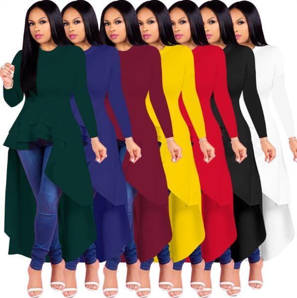 Diseñador de las mujeres hasta el tobillo falda de manga larga vestido de una pieza vestido flaco de alta calidad sexy elegante moda de lujo falda 0283