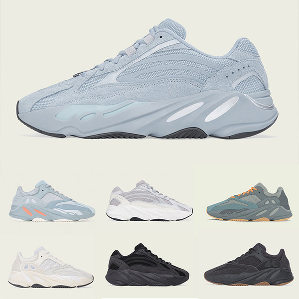 kanye west 700 hospital blue salt wave runner running shoes inertia for mens womens 3m static sports sneakers luxury designer shoes 36-46 - from $49.63