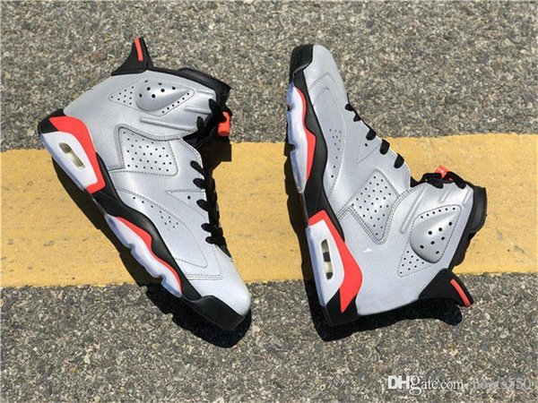 2019 Hot Authentic 6 JSP 3M Reflective Infrared Reflective Silver Black 6S Man Basketball Shoes Sports Sneakers CI4072-001 With Original Box