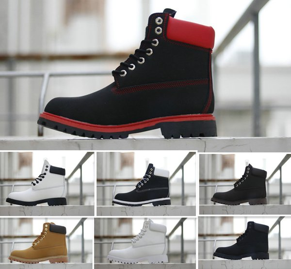 2018 Winter martin Boots Womens Mens Mid Boots Street Fashion outdoor Ankle Boot Combat Work Tactical Military Winter boots EUR 36-46