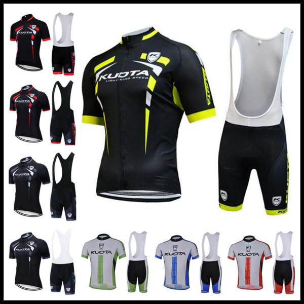 2019 YENI KUOTA Takımı Yaz Bisiklet Forması set Bisiklet gömlek önlük şort takım erkekler Hızlı kuru Nefes bisiklet giyim Maillot Ciclismo