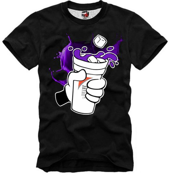 E1SYNDICATE T GÖMLEK LEAN DRANK 4040DTG Komik ücretsiz kargo Unisex Rahat Tişört üst