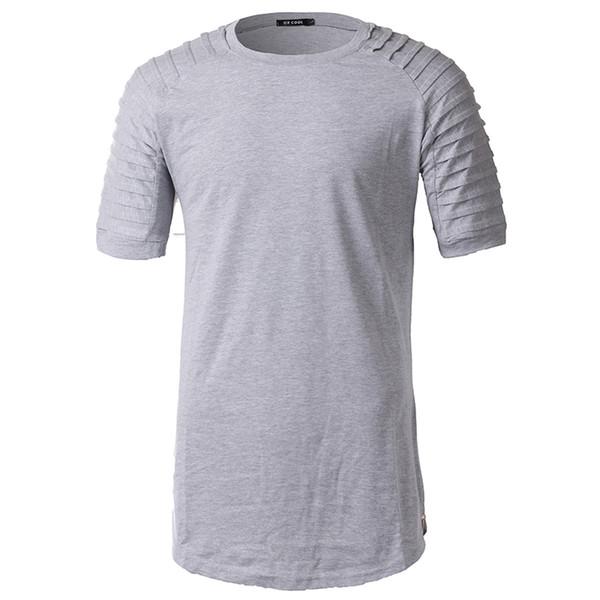 Euro Size 2019 Summer Hip Hop Streetwear Oversized T-shirt Destroyed Ripped Raglan Short Sleeve T Shirt Men Side Zipper Tshirt