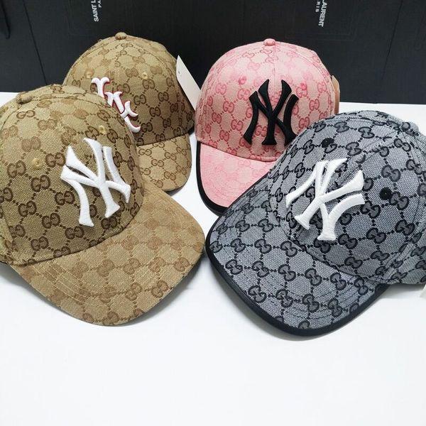 Moda marca sombreros primavera otoño gorras de béisbol para hombres y mujeres logo bordado Sol ajustable 4 colores opcionales