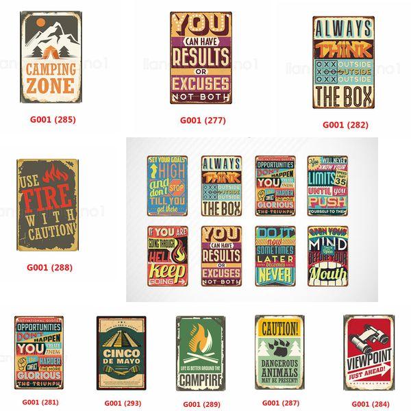 Если ты идешь сквозь ад Продолжай идти винтаж Металлический знак железная роспись оловянные таблички Wall Art Poster Пивной бар Паб-клуб Home decor FFA2887-1