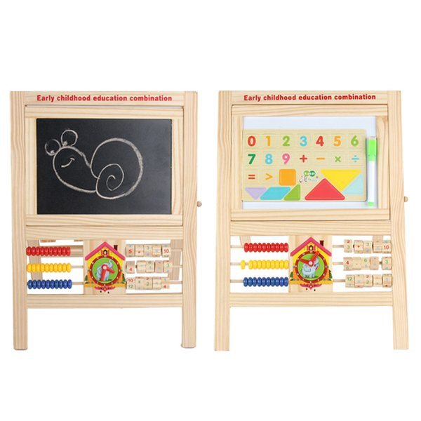 top popular Multi-purpose drawing board Abacus Baby 2-side magnetic drawing board kids arts paint set Early childhood education combination 2019