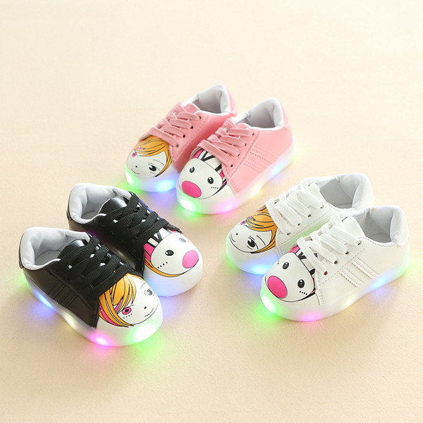 New Children Shoes Seven-color Luminescent Shoes LED Flash Anti-skid Light-on Children Shoes