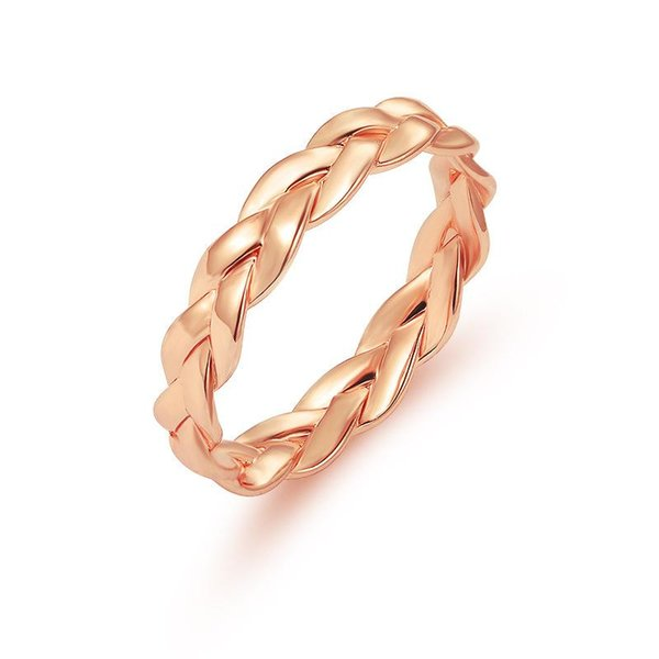 Fashion Creative Closed Chain Ring Women Gold/silver Color Simple Retro Winding Twist Ring Female Wedding Jewelry Full Sizes Wholesale