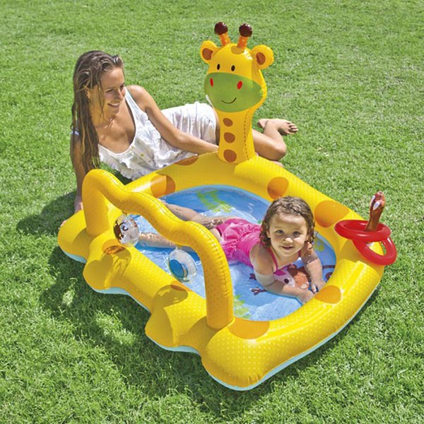 inflatable pool baby child pvc chair children's swimming pool for kids infant bath inflatable children home giraffe plastic