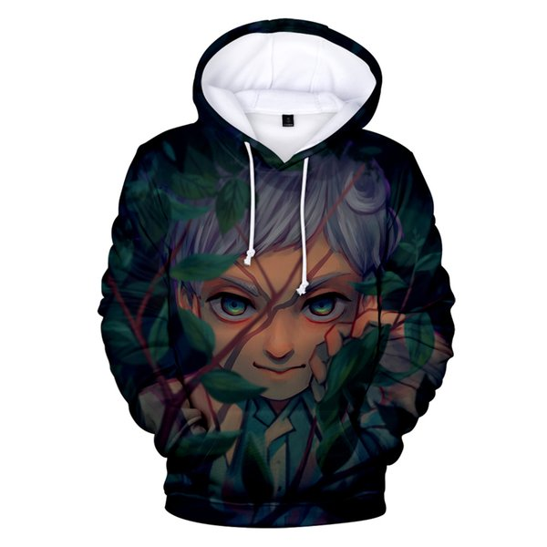 Fashion 3D Character Promised Neverland Hoodies Hot Gmae Casual Sweatshirts Young People Clothes Japaness Anime Cartoon Outwears
