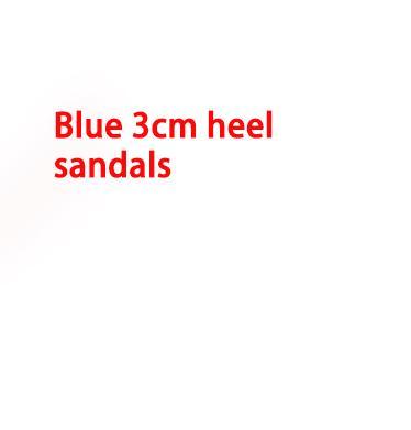 talón de 3 cm Azul