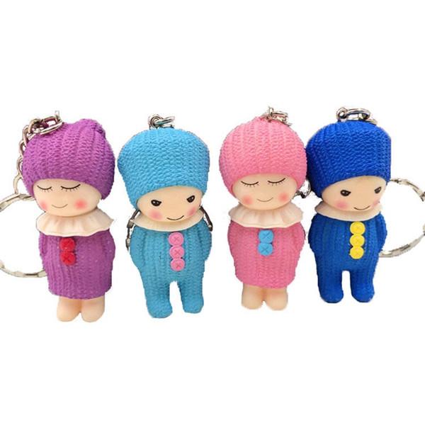Carino bambole di lana Chiavi Fibbia Bambine Portachiavi Inverno Cartone animato Anello bambole Ciondolo regali di compleanno creativi 1 7jho1