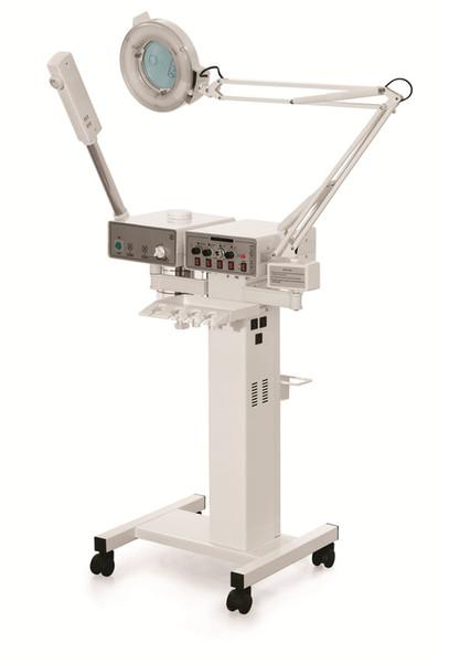 EU Tax free 11in1 MULTIFUNCTION BEAUTY Vacuum High frequency Facial brush Spray Vaporizer Magnifying lamp skin Galvanic machine equipment