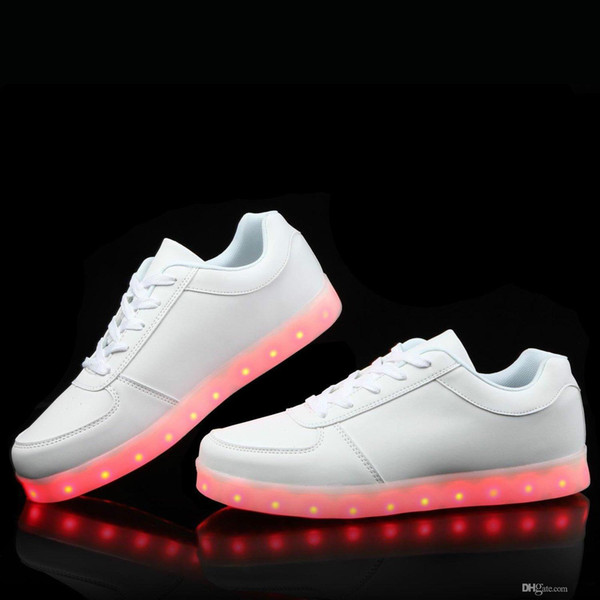 Фирменный дизайнер-LED Light Up Shoes Модные кроссовки для мужчин Женские детские детские для мальчиков и девочек Slip-on с 11-цветным режимом