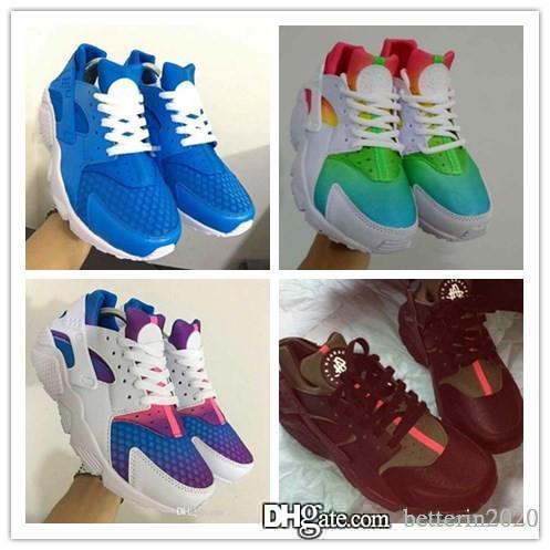 2018-2019 Airs Huarache Ultra Designer Running Shoes Mens Womens Hurache Multicolor Navy Blue Tan Denim Huaraches Sneakers Size 5.5-11