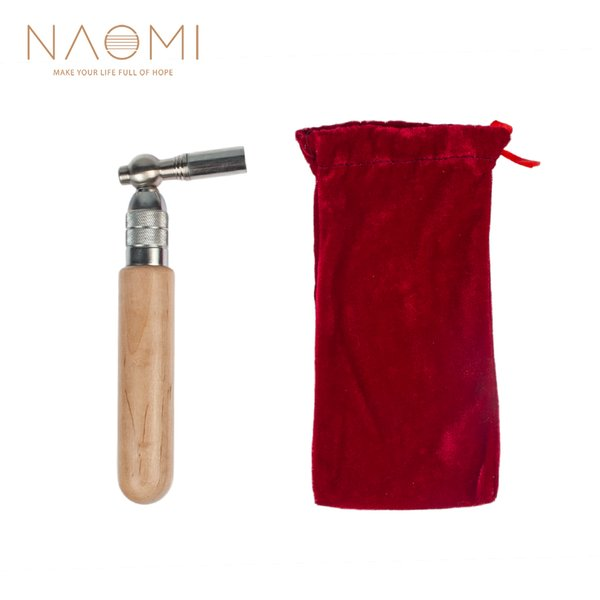 NAOMI Piano Tuning Hammer Wrench Lever Maple Wood Hadle L-shape Square Wrench Tuner Spanner Tip String Pin Repair Tool