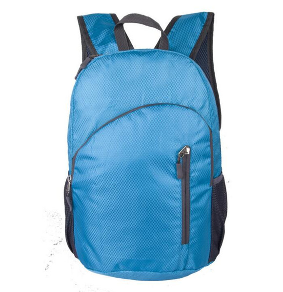 best selling 50pcs Outdoor Travel Camping Daily Sports Backpack Folding Shoulder Bag Outdoor