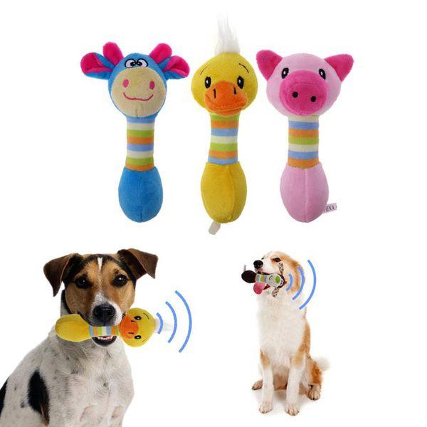 Nettes Haustier-Hundespielzeug Chew Squeaker Animals Pet Toys Plüsch-Welpen-Hupen-Eichhörnchen für Hunde Cat Chew Squeak Toy Dog Goods