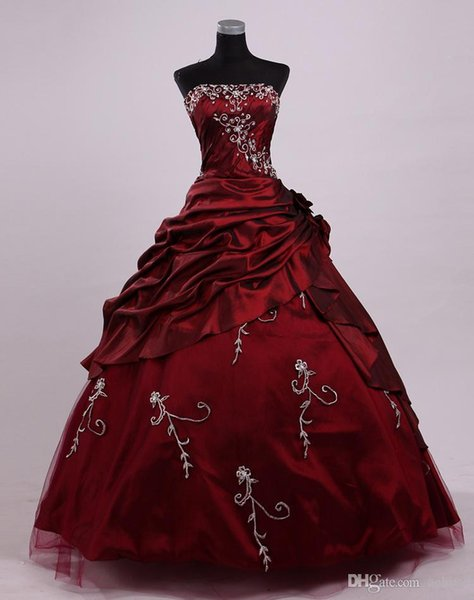 Strapless Ruched Ball Gown Quinceanera Dresses with Beads Embroidery Corset Masquerade Debutante Gowns Sweet 16 Dresses