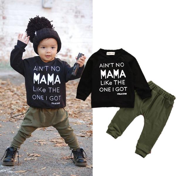Pudcoco Corredo 2PCS bambini del bambino del bambino dei vestiti del ragazzo Set T-Shirt Top pantaloni delle ghette Outfits