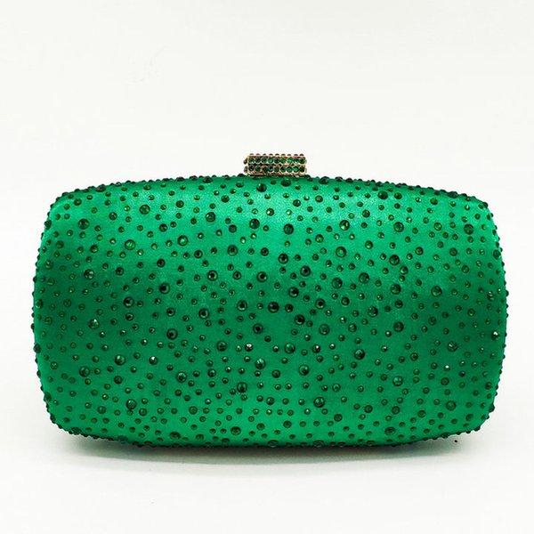 Grün-Kristalltasche