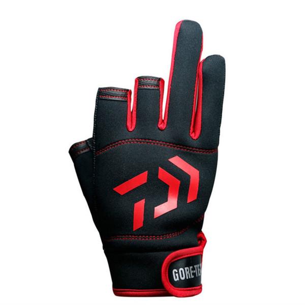 2019 New Top Quality Anti Slip DaiwaFishing G loves Three Five Cut Finger Leathe Sports Gloves Slip-resistant Daiwa Gloves