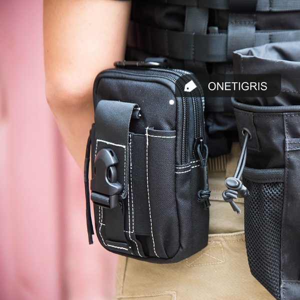 OneTigris 1000D Nylon Waist Bag Pack Compact MOLLE EDC Pouch Belt Bag for iPhone6s iPhone7 Plus #263413