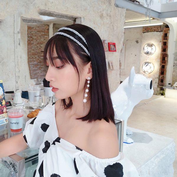 Полный Алмазные Super Flash Double Fine диапазона волос девушки Diamond Crystal Fine Side оголовье Темперамент оголовье Дамы партии Headwear