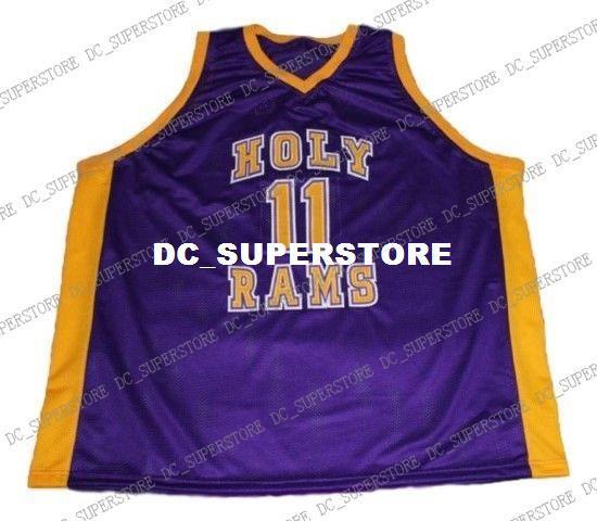 vente en gros John Wall 11 maillot de basket-ball Saint Rams High lycée New Purple Stitched Personnalisé tout numéro nom HOMME FEMME JEUNES BASKETBALL JERSEYS