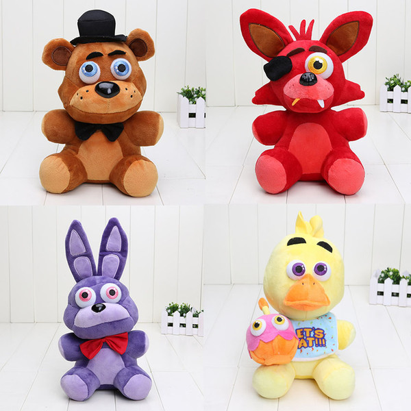 In Stock 25cm Five Nights At Freddy ' ;S Toy Bear Foxy Chica Bonnie Fnaf Plush Toys Doll Kids Toys