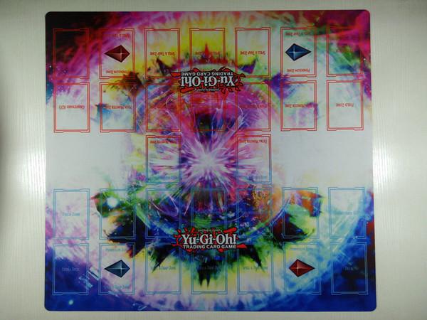 Yu-Gi-Oh! 2 Oyunculu Ana Kural 4 Kart Bağlantı Bölgeleri Özel Playmat TCG CCG Düello Mat