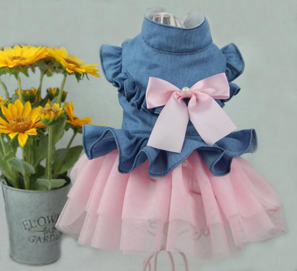 Pet Dress For Cat Dog Skirt Teddy Spring Summer Autumn Winter New Clothes Pet Wedding Dress Pet Skirt From XS To XXL