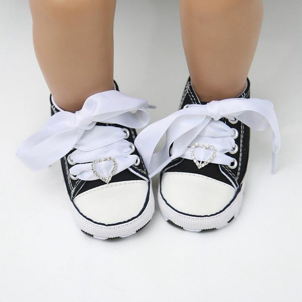 Baby Boy Girl Casual Shoes Lace-up T-tied Cute Love Pattern Casual Toddler Shoes Non-slip Soft Bottom 2019 #05