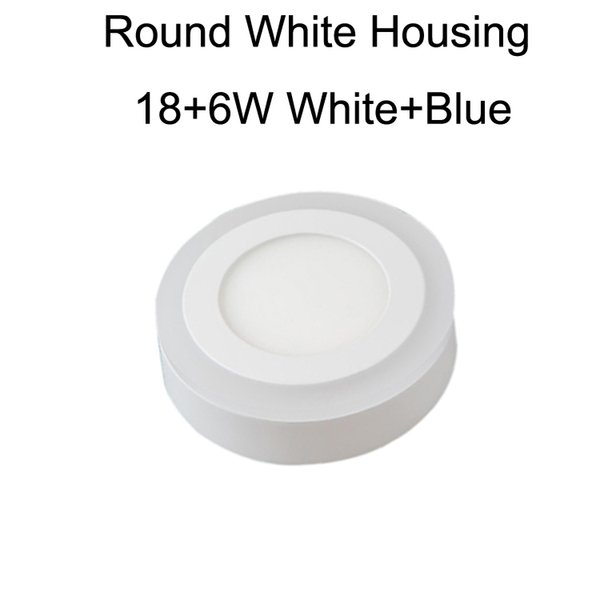 Round White Housing 18+6W White+Blue