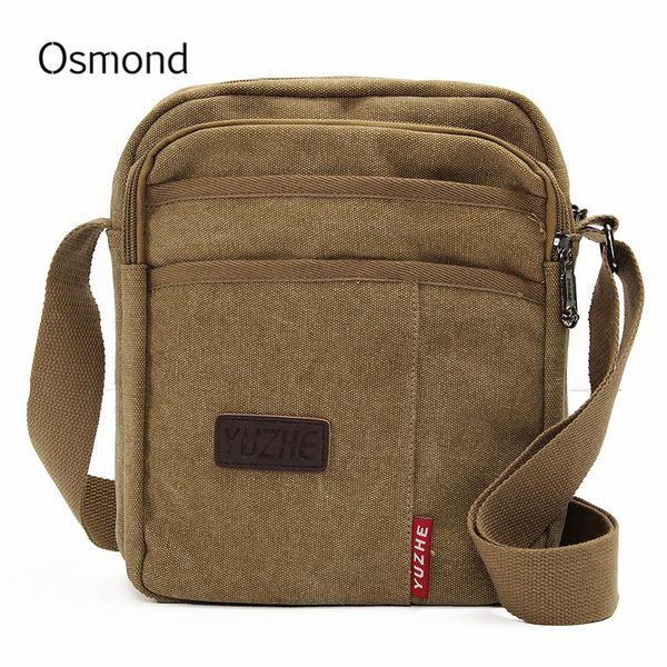 ad6ef71f6 Bolsa da marca dos homens da lona do vintage crossbody bag sacos de ombro  mensageiro bolsa