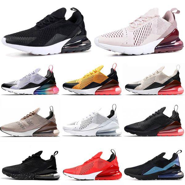 Compre Nike Air Max 270 React Air 270 270s FLYKNIT Cojín Rosa Para Mujer BARELY ROSE Zapatillas De Deporte Para Hombre Clásicas Blancas Negras Racer