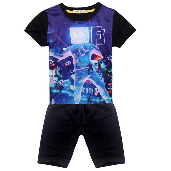 kids christmas boys clothes marshmello 2019 new 3D t-shirts Boy/girl Children's wear summer Casual t shirts Short Sleeve Clothes