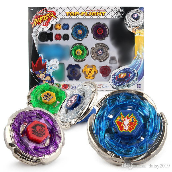 4 IN 1 suit Beyblade Metal Spinning top Beyblade Sets Fusion 4D 4 Gyro Box Fight Master Beyblade Launcher Grip Kids Toys Gifts