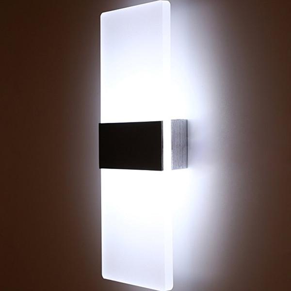 3 W / 5 W / 6 W Led Akrilik Duvar Lambası AC85-265V Duvara Monte Aplik Işıkları Oturma Odası yatak odası Koridor Wandlamp İç Aydınlatma