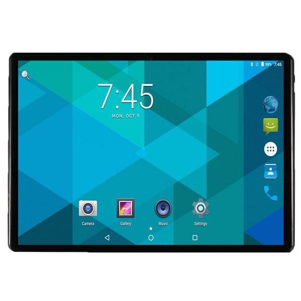 2019 Nuovo Android 7.0 OS 10 pollici tablet pc Octa Core 4 GB RAM 32 GB ROM 8 core 1280 * 800 IPS 2.5D Tablet schermo in vetro 10,1 Regali