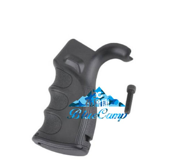 Black Pistol Polymer Grip with Finger Grooves for Defense (Black) AR