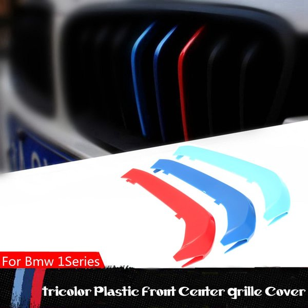3 шт. Для BMW 1 Серии F20 / F21 2015 2016 11 решетки 3D М-цвет автомобиля Передняя решетка Решетка радиатора Обложка полосы Наклейка Пряжка Украшения
