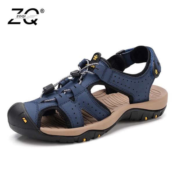 Sıcak Satış Yeni Moda Yaz Eğlence Plaj Erkekler Ayakkabı Yüksek Kaliteli Deri Sandalet Büyük Metre erkek Sandalet Boyutu 39-45 # 99092